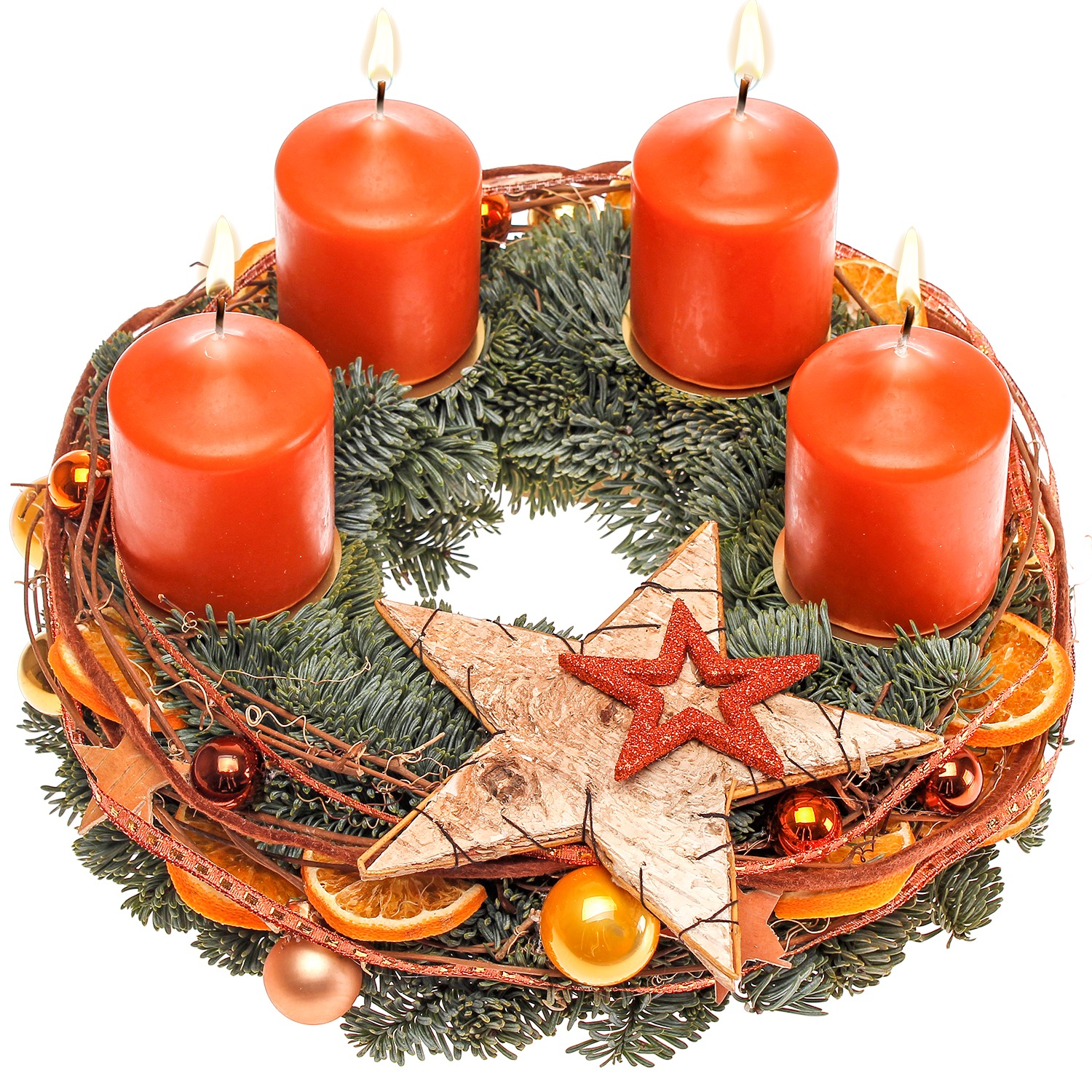 Adventskranz orange