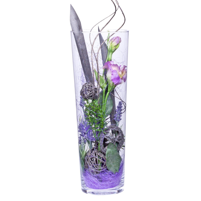 deko-vase lisianthus lila (40cm) - jetzt bestellen bei valentins, Wohnzimmer dekoo