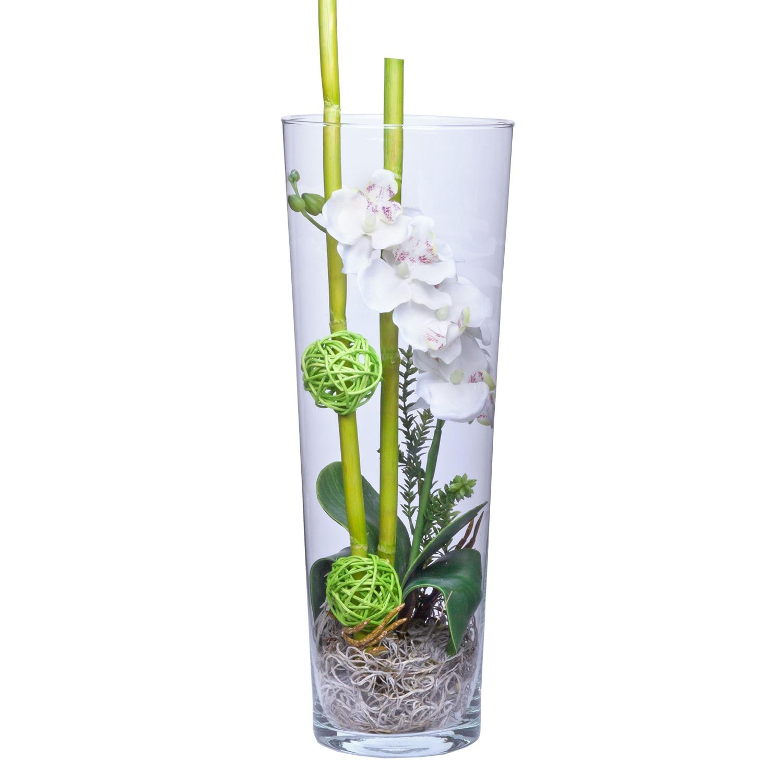 Deko Vase Orchidee Weiß (40cm)   Jetzt Bestellen Bei Valentins | Valentins  Blumenversand   Blumen Und Geschenke Versenden