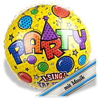 Singender Ballon Party