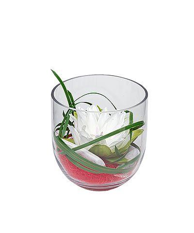 Blumen tischdeko im glas frhling glas blumen teelicht for Herbstdeko im glas