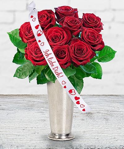 langstielige blumen zum valentinstag valentins valentins blumenversand blumen und. Black Bedroom Furniture Sets. Home Design Ideas