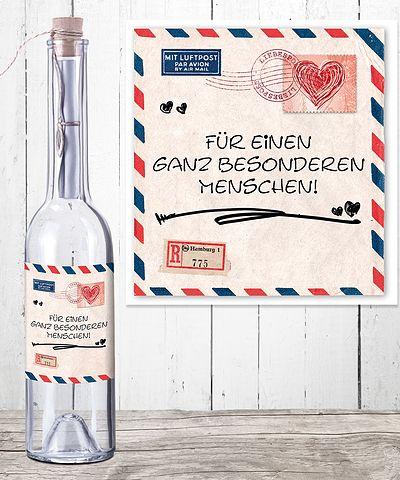 flaschenpost liebesgeschenke der besonderen art valentins blumenversand blumen und. Black Bedroom Furniture Sets. Home Design Ideas