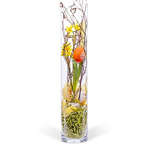 deko vase ostern orange 50cm jetzt bestellen bei valentins. Black Bedroom Furniture Sets. Home Design Ideas