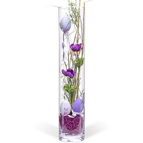vase mit oster deko lila 50cm jetzt bestellen bei. Black Bedroom Furniture Sets. Home Design Ideas