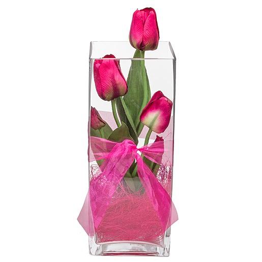 Deko Vase Tulpen Pink (30cm)