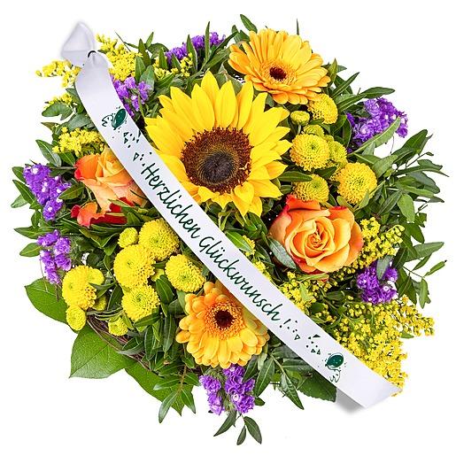Sunny Day und Schleife: Herzlichen Glückwunsch!
