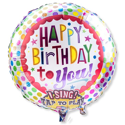 singender ballon happy birthday to you 24368. Black Bedroom Furniture Sets. Home Design Ideas