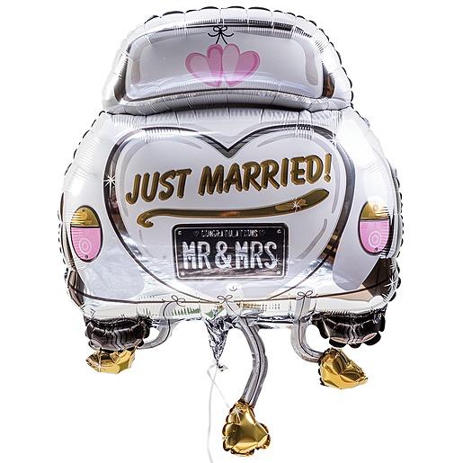 Riesenballon Hochzeitsauto und Wölkchen-Tüte