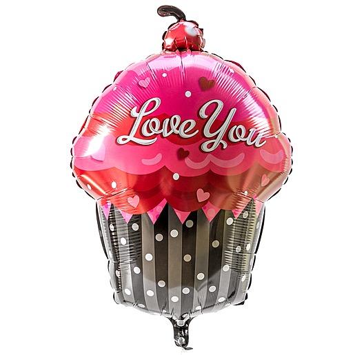 Riesenballon I love you Cupcake und Vintage Herz Sei ein Einhorn