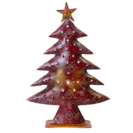 Windlicht Metall Weihnachtsbaum