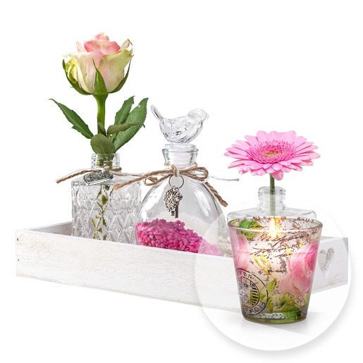 Vasen Set Romantic Dream und Rosen Duftkerze