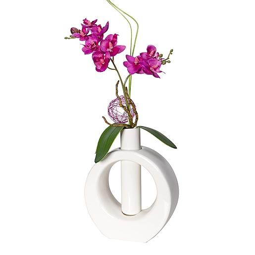 Tiziano Vasen-Set mit haltbarem Orchideen-Arrangement