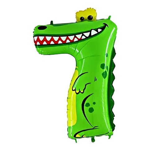 Tierischer Zahlen Ballon 7 Krokodil