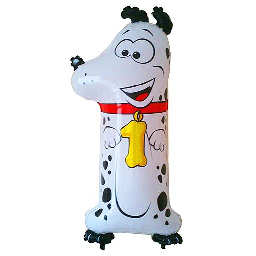 Tierischer Zahlen Ballon 1 Dalmatiner