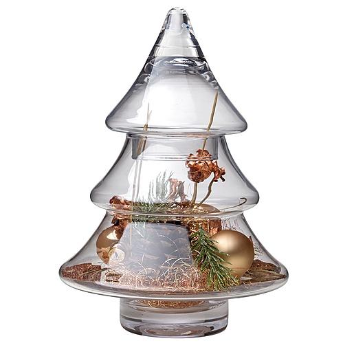 Glas Tannenbaum mit Deko (25 cm)