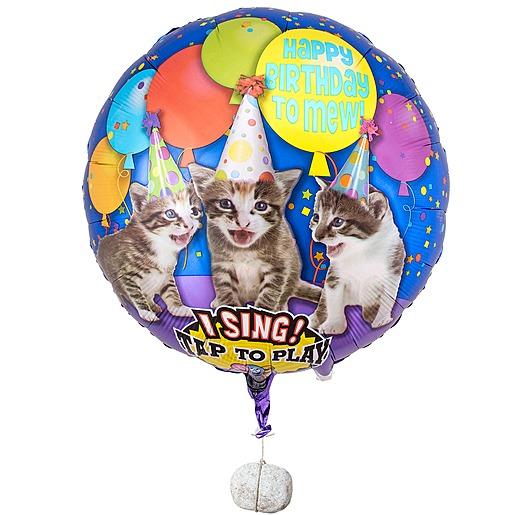 Singender Ballon Tierische Geburtstagsgrüße Katzen