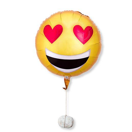 Ballon Love Emoji und Belgische Pralinen