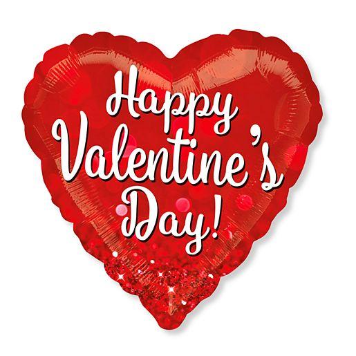 Riesenballon Happy Valentines Day Glitzer von Valentins.de bestellen