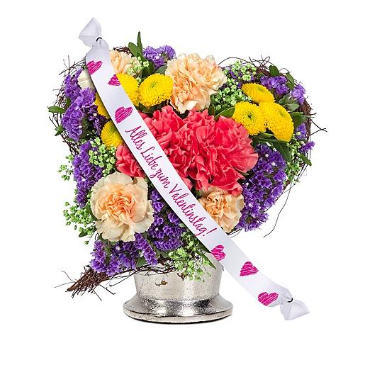 Herzensfreude und Schleife Alles Liebe zum Valentinstag! und Love Teddy