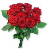 12 langstielige rote Premium-Rosen (Valentins)