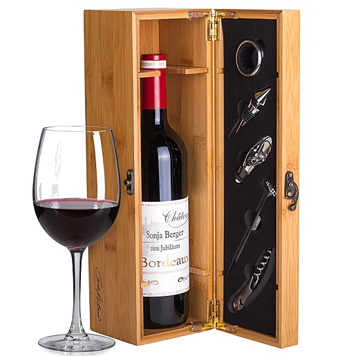 Mein eigener Bordeaux (1x 0,75 l) und Präsentkiste