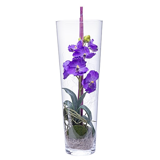 Deko-Vase Orchidee lila (50cm)