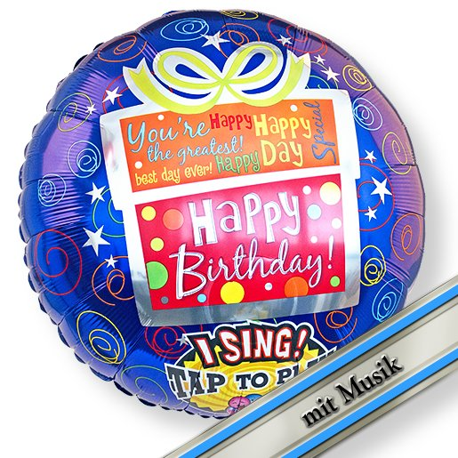 Singender Ballon Happy Birthday Geschenk