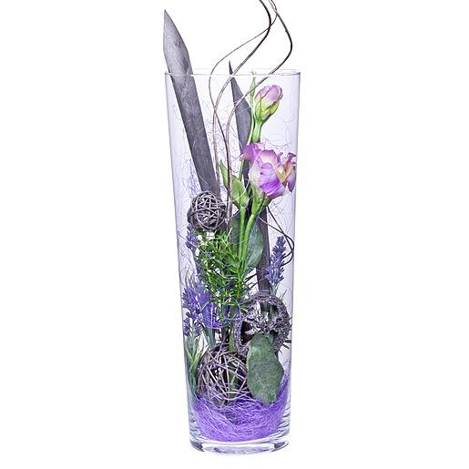 Deko Vase Lisianthus lila (40cm)