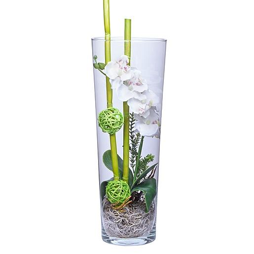 mehr infos zu deko vase orchidee wei 40cm