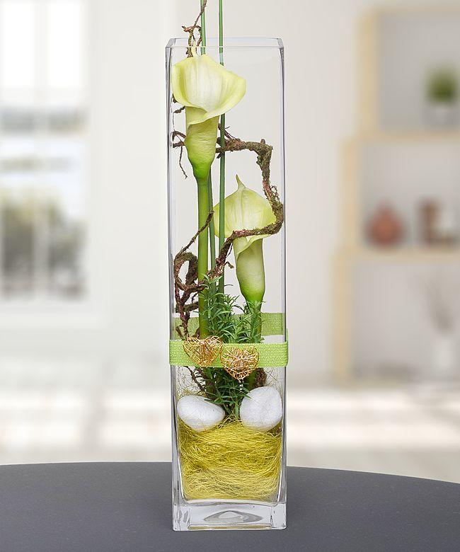 deko vase calla gr n 50cm jetzt bestellen bei valentins valentins blumenversand blumen. Black Bedroom Furniture Sets. Home Design Ideas