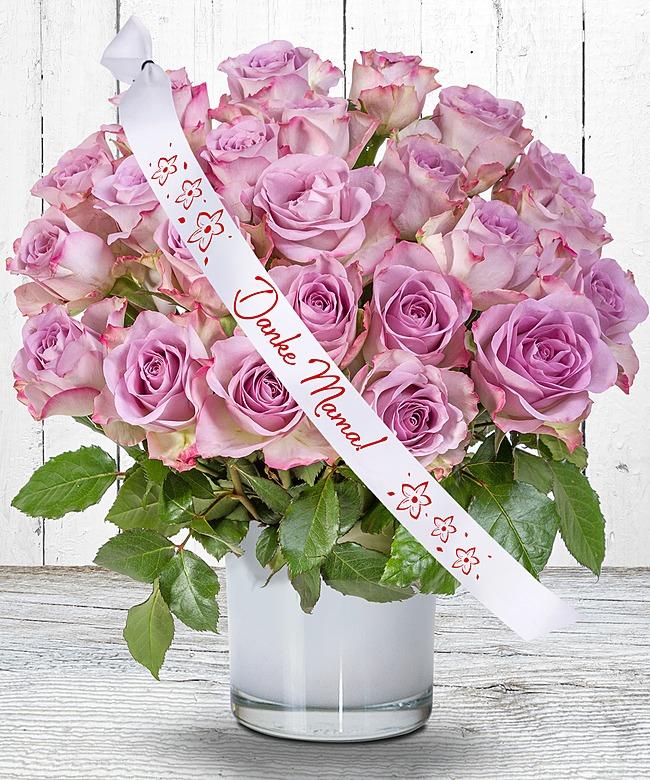 23 rosafarbene rosen mit schleife danke mama vintage herz f r die beste mama der welt jetzt. Black Bedroom Furniture Sets. Home Design Ideas