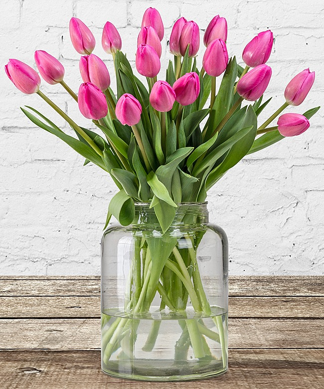20 rosa tulpen jetzt bestellen bei valentins valentins. Black Bedroom Furniture Sets. Home Design Ideas