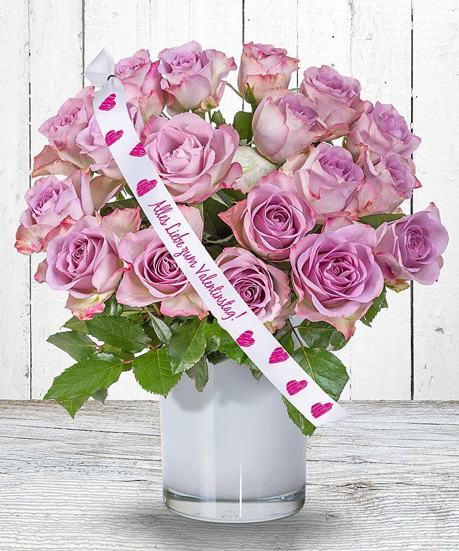 18 Rosafarbene Rosen Und Schleife: Alles Liebe Zum Valentinstag!