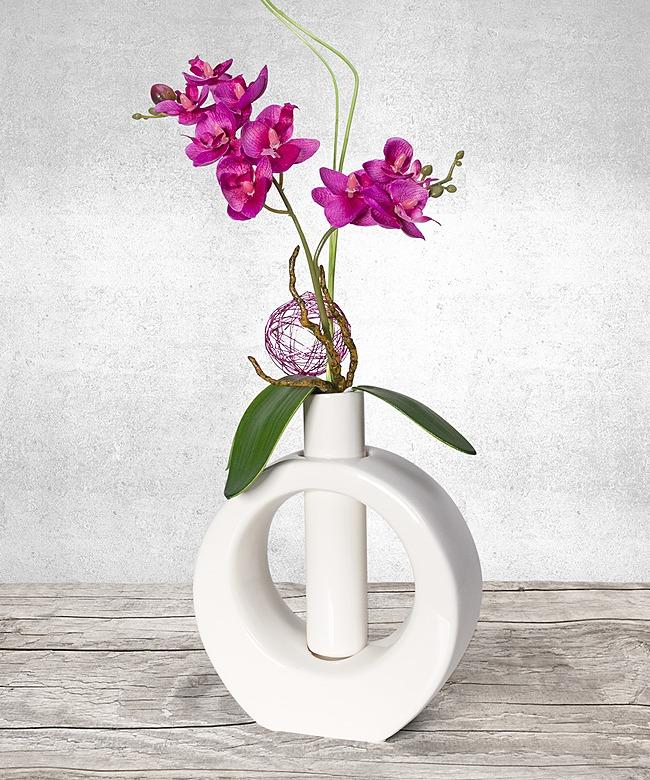 Tiziano vasen set mit haltbarem orchideen arrangement jetzt bestellen bei valentins - Orchideen arrangement ...