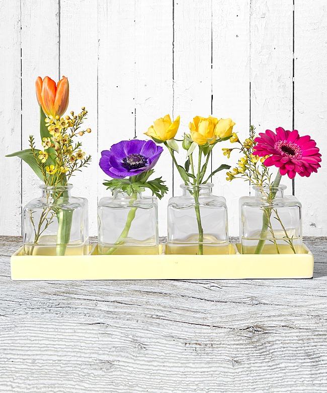 vasen set fr hlingsgru und lindt kleine kostbarkeiten jetzt bestellen bei valentins. Black Bedroom Furniture Sets. Home Design Ideas