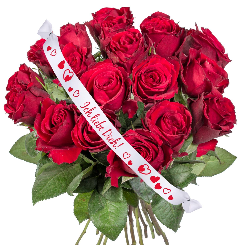18 Rote Rosen Und Schleife Ich Liebe Dich Pralinen Herzen Und