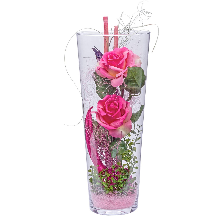 Deko Vase Rosen Rosa 40cm Und Klangherz Jetzt Bestellen Bei