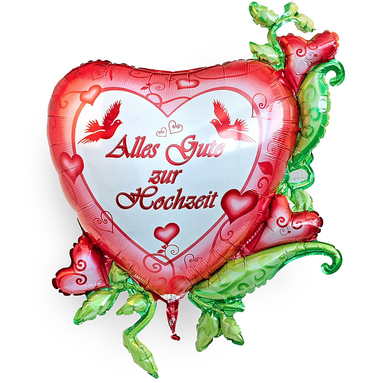 Riesenballon Alles Gute Zur Hochzeit Und Vintage Herz Alles Liebe