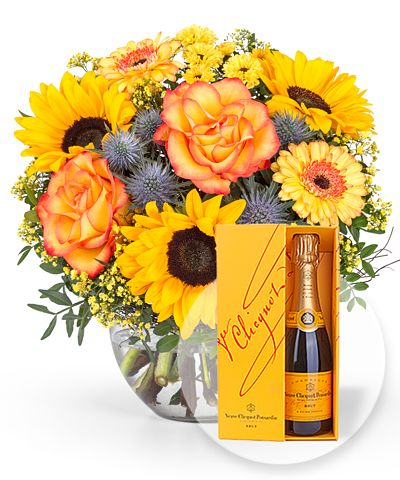 Sommerbote und Champagner Veuve Clicquot