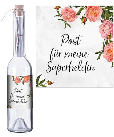 Flaschenpost Superheldin