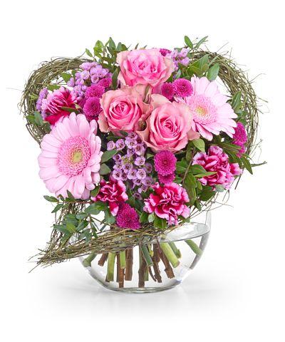 Romantische Blumensträuße zum Valentinstag - Valentins ...