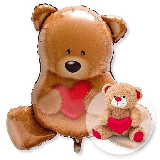 Ballon Kuschelbär und Love Teddy