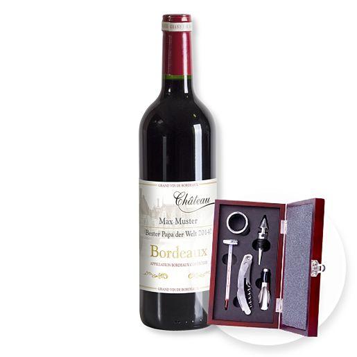 Individuellleckereien - Mein eigener Bordeaux (1x0,75l) und Sommelier Set - Onlineshop Valentins