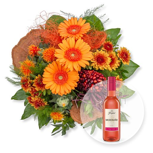 Nützlichblumen - Amber und Freixenet Mederano Rosado - Onlineshop Valentins