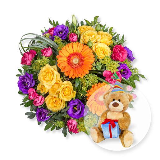 Citylights und Glückwunsch-Teddy