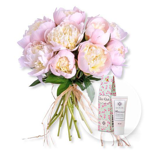 10 Pfingstrosen rosa und Blütenrausch Pfingstrosen Handcreme Für Dich