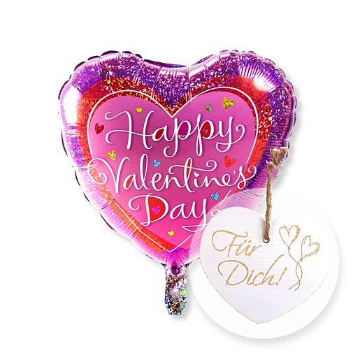 Ballon Happy Valentines Day und Vintage Herz Für Dich!
