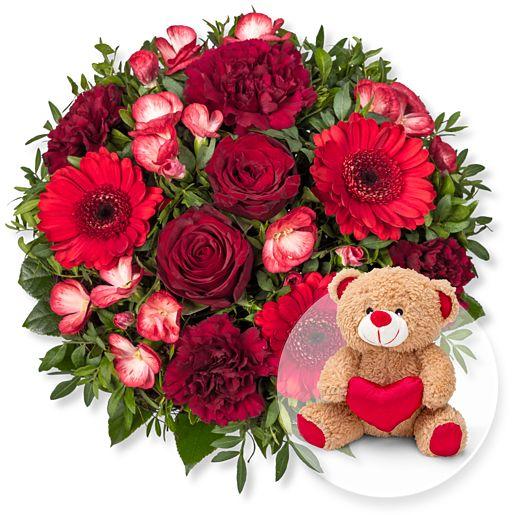 Glücksgefühl und Love-Teddy
