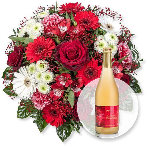 True Love und Rosenblüten-Secco Alles Liebe zum Valentinstag